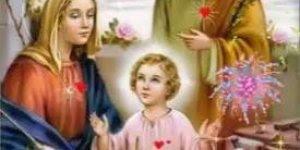 Linda imagem da Sagrada Família, que Deus abençoe você e sua família!!!