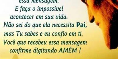 Mensagem de Deus para enviar a todos amigos e amigas, Deus te abençoe!!!