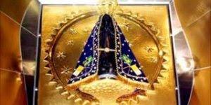 Momento celestial com Nossa Senhora Aparecida, viva a padroeira do Brasil!