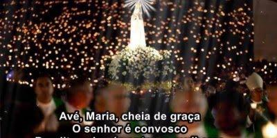 Vídeo de Oração da Ave Maria, com imagem de Nossa Senhora de Fátima!!!