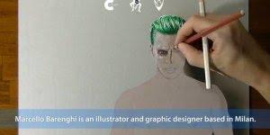 Arte de desenhar de forma magnifica, veja o Coringa de Esquadrão Suicida!!!