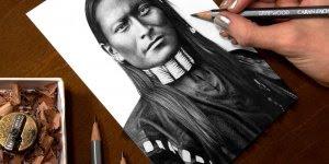 Arte de desenhar rostos humanos de forma perfeita, é magnifico de ver!!!