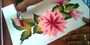 Arte de pintar flores com técnica impecável, simplesmente perfeito!!!