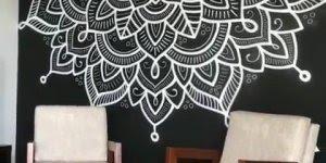 Arte de transformar uma parede em uma obra de arte, muito linda!!!