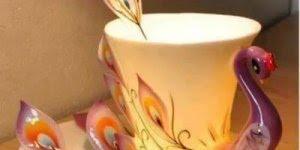 As mais belas artes feitas com xícaras, é uma mais linda que a outra!!!