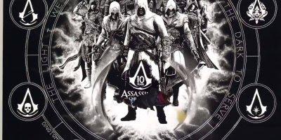 Desenho de Assassins Creed feito com sal, simplesmente fantástico!!!