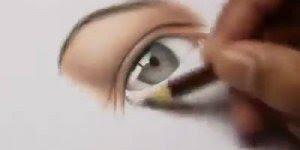 desenho de Olho realista feito com lápis de cores comuns da Faber-Castell!
