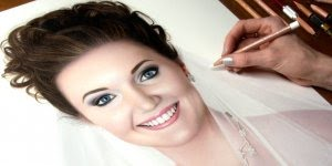 Desenho de uma noiva - Resultado é como se fosse um retrato!