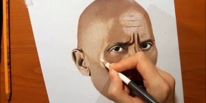 Desenho do ator Dwayne Johnson, um talentoso trabalho, confira!