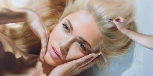 Desenho pintado de rosto feminino maravilhoso, vale a pena conferir!!!