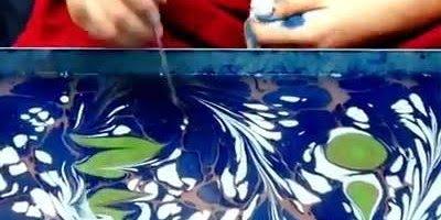 Desenho sobre as águas, um artista assim recebe o dom de Deus!