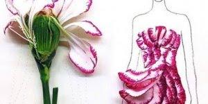 Desenhos de vestidos feitos com flores, uma arte lindíssima!!!