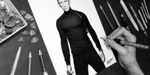 Desenhos em preto e branco de James Bond 007, simplesmente perfeito!!!