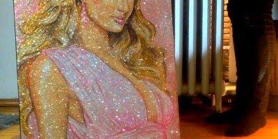 Desenhos feitos com Glitter,olha só que trabalho fantástico e lindo!!!