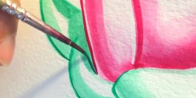 Lindo desenho de flores, mais uma obra de arte para apreciar!