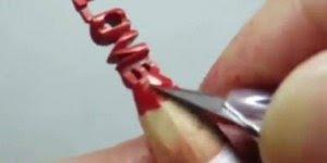 Love feito na ponta do lápis de cor, uma linda obra de arte!