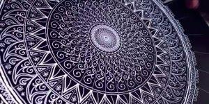 Mandala digital, veja que resultado incrível, compartilhe!
