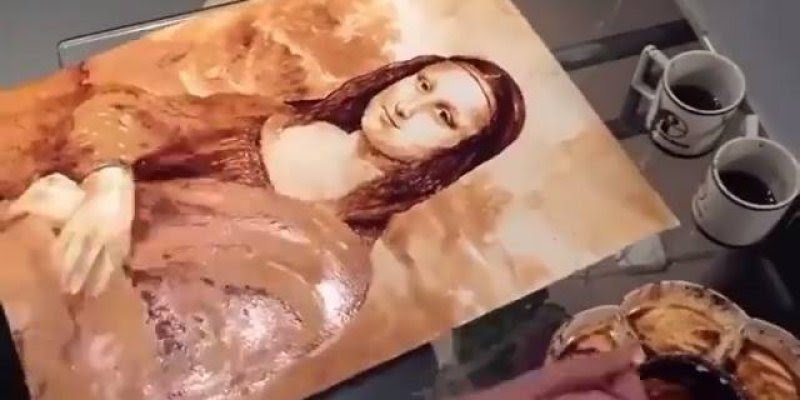 Mona Lisa feita de café, você nunca viu esta obra de arte assim!