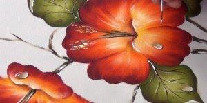 Pintura de flor em tela, passo a passo dessa obra de arte!