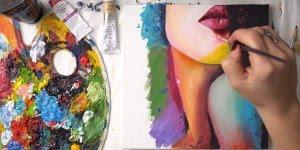 Pintura de um rosto feminino com óleo, ficou show, confira!