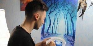 Pintura maravilhosa, o efeito da tinta no escuro é magnifica!!!