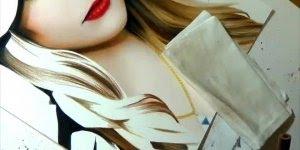 Rosto de mulher pintado a mão, veja quanta perfeição em apenas um desenho!!!