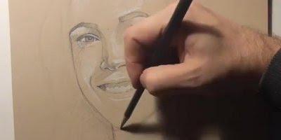 Vídeo com lindo desenho de rosto feminino sendo feito, é simplesmente perfeito!!