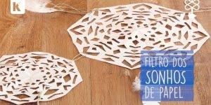 Aprenda a fazer o famoso filtro dos sonhos usando folha sulfite!