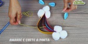 Aprenda a fazer um Móbile para berço de bebê super simples e fofo!