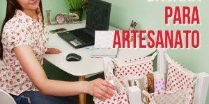 Aprenda a fazer um porta-trecos e organizar a sua mesa de trabalho!