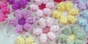 Aprenda a fazer uma colcha de crochê com flores, a pregar uma na outra!