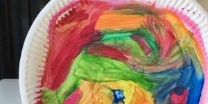Artesanato para fazer com criança, um lindo camaleão irá surgir!