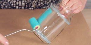 Artesanato para fazer com potes de vidro de azeitona ou palmito!