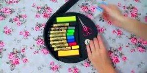 Artesanatos de caixa super lindinha para guardar suas canetas!!!