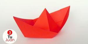 Barquinho de papel de um jeito simples de fazer, para ensinar as crianças!