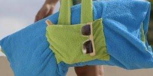 Bolsa de praia feita com almofada, é para chegar e descansar, confira!