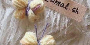 Borboletinha feita de lã, super fácil e fica linda, confira!