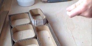 Caixa Organizadora de papelão, ela fica parecendo que foi feita de madeira!