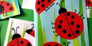 Cartão de joaninhas para o dia das mães, ela vai amar esse cartão!