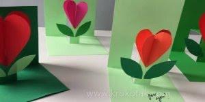 Cartão para o dia das mães, com uma linda flor de papel!