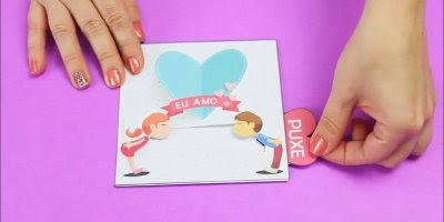 Cartão para o dia dos namorados, uma ideia bem fofa, confira!