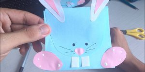Cartão para páscoa, aprenda a fazer esse cartão em forma de coelho!