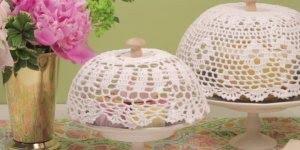 Cesta de crochê para tampar bolos e pães, uma ideia muito criativa!