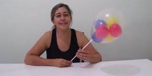 Como colocar vários balões dentro de um outro balão, uma dica legal para festa!