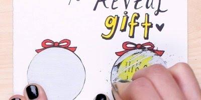 Como eu consigo fazer um cartão com raspadinha? Que ideia incrível!