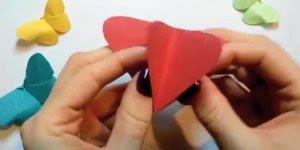 Como fazer borboletas de papel com dobradura, muito simples e linda!