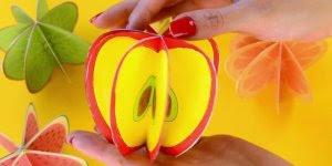 Como fazer frutas de papel, um artesanato ótimo para fazer com crianças!