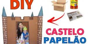 Como fazer um castelo para seu filho reciclando, muito boa ideia!