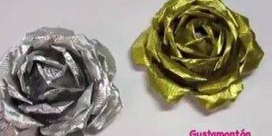 Como fazer uma flor de alumínio, o resultado é impressionante!