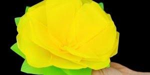 Como Fazes Flor com Papel de Seda, veja que resultado incrível!